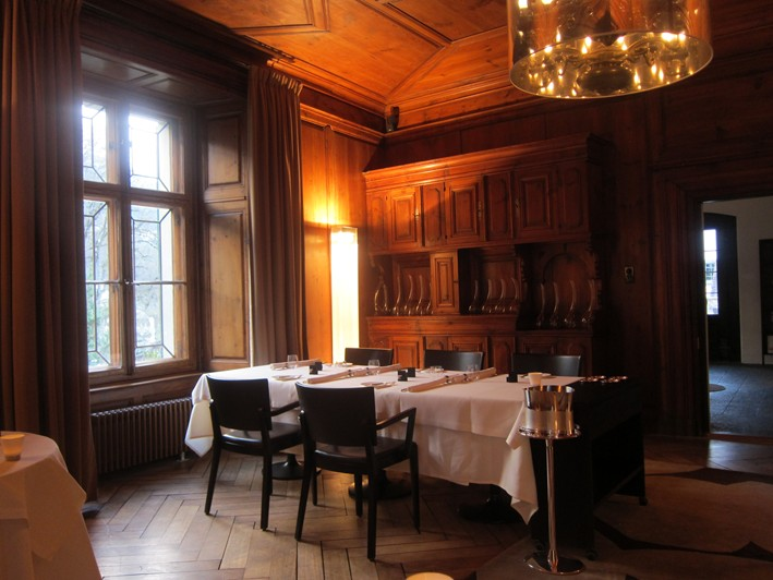 dining room laid for dinner (2011)