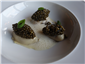 poached oyster and caviar
