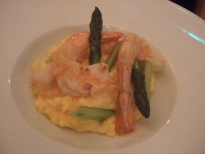 scrambled egg and prawns