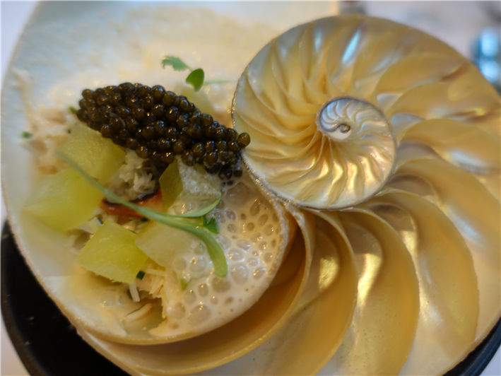 crab and caviar
