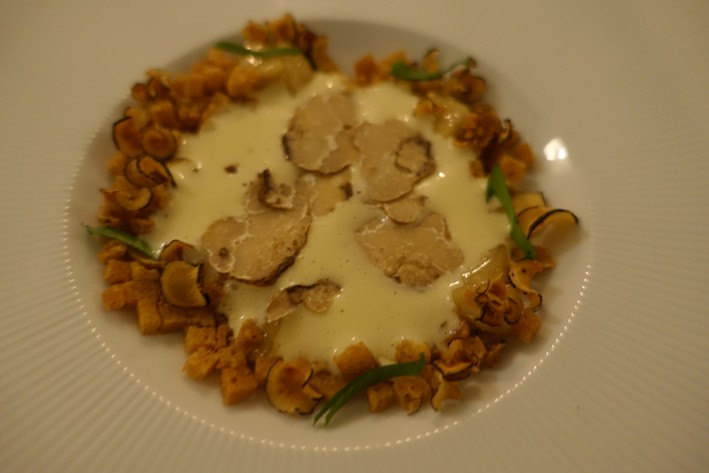 scallops with truffle added