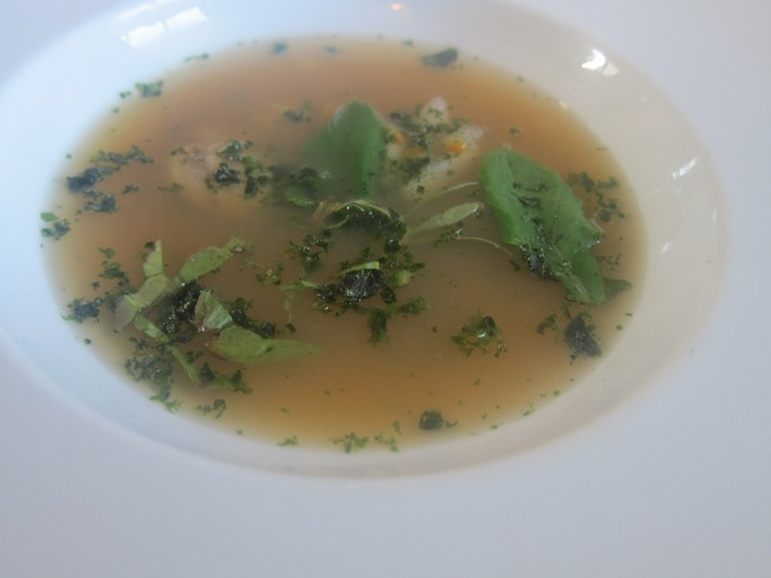 soup made from turbot stock
