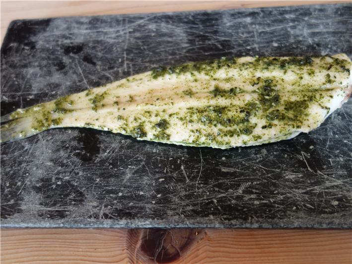 slip sole with seaweed butter