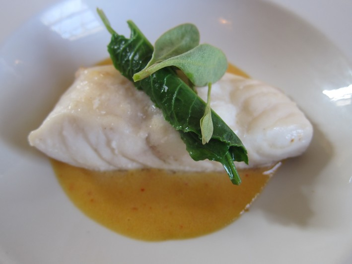 turbot with turbot roe sauce