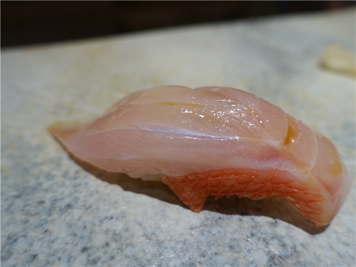 golden eye snapper sushi
