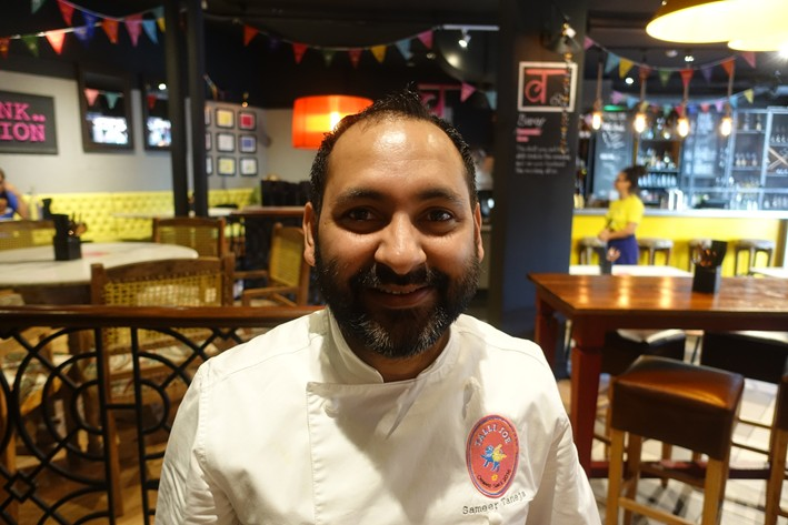 head chef Sameer Taneja