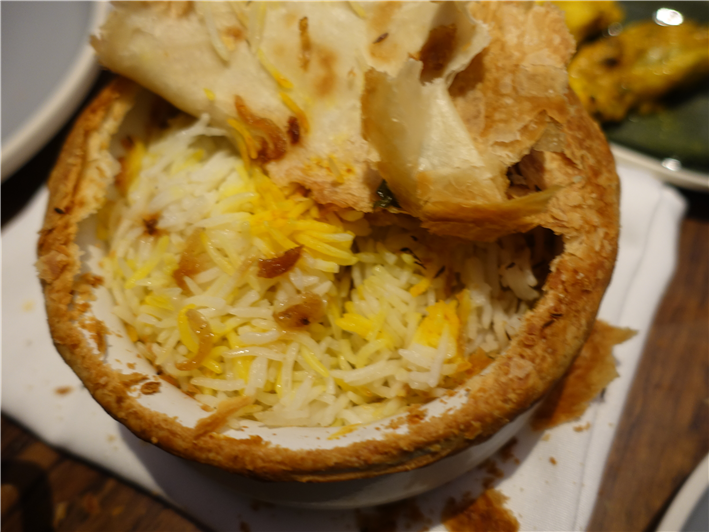 biryani under the pastry