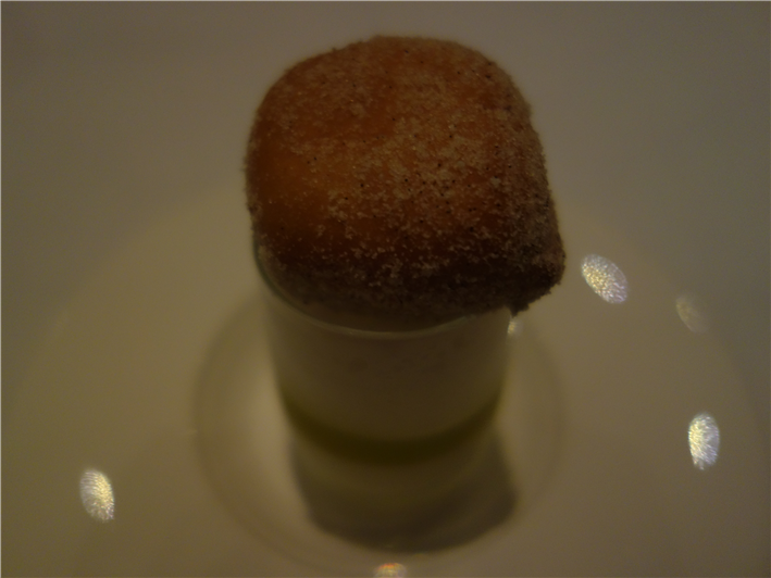beignet with yoghurt