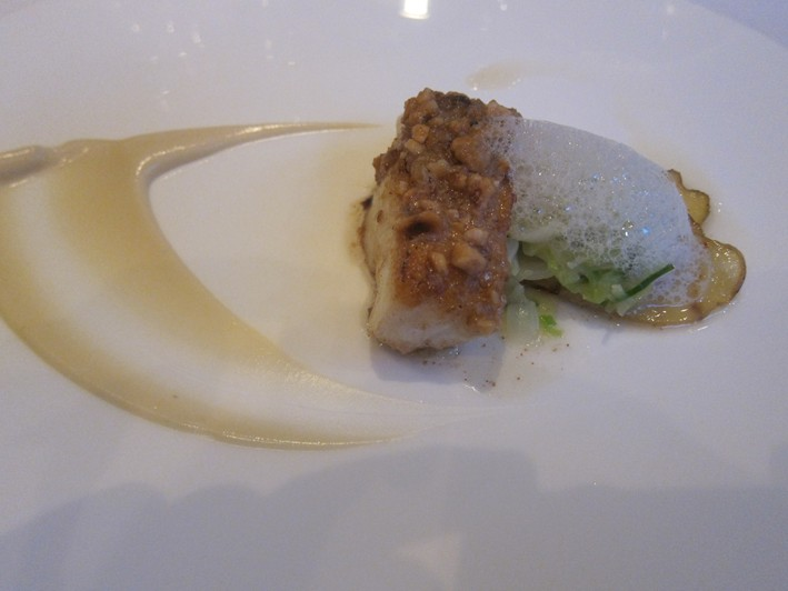 cod with cauliflower puree
