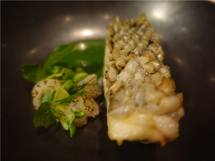 sea bass with crisp scales