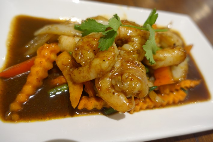 prawns with stir fry