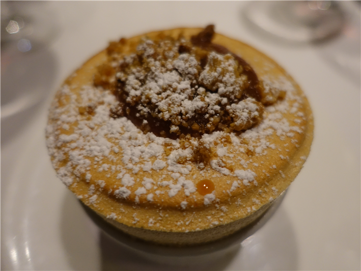 Bramley apple crumble souffle