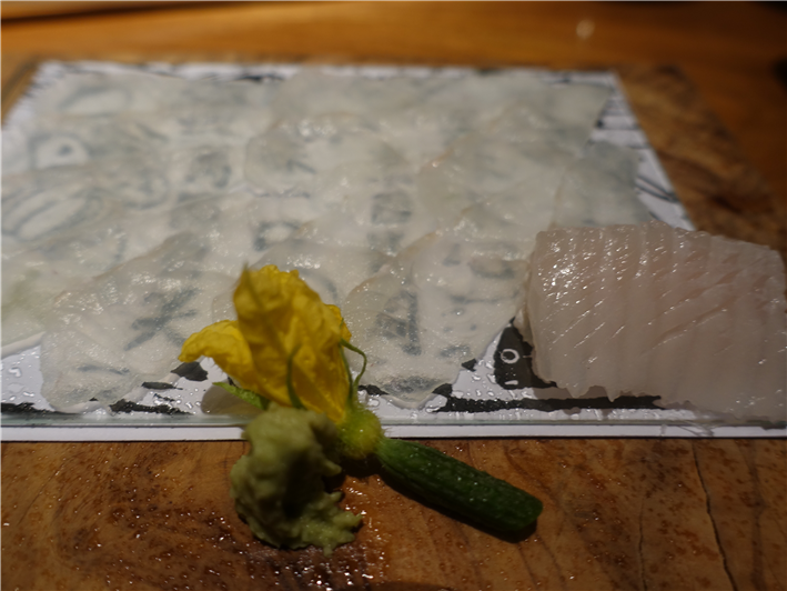sashimi of plaice