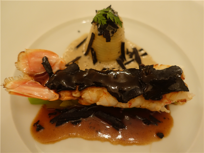 langoustine with truffle