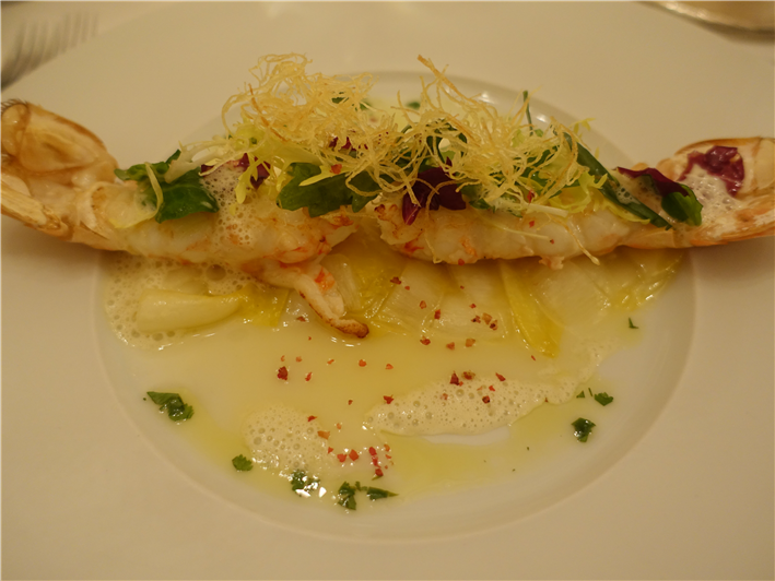 langoustine with endive