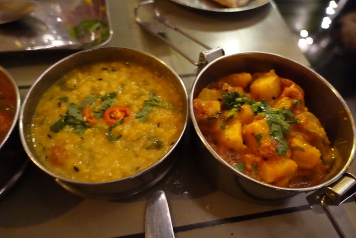 dhal and potatoes