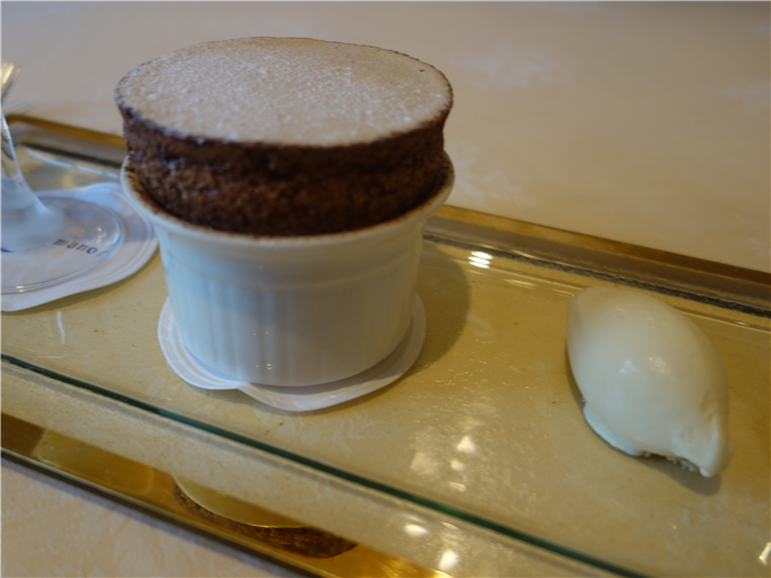 chocolate and praline soufflé