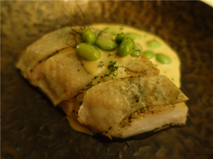 chicken with broad beans
