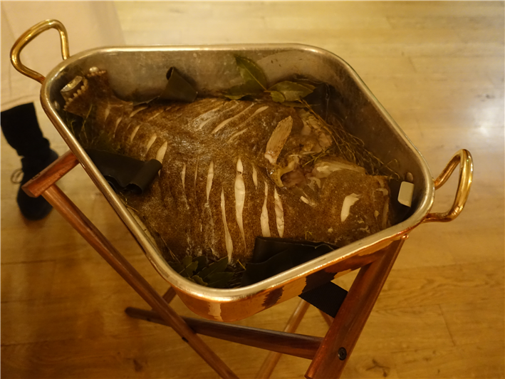whole turbot cooked