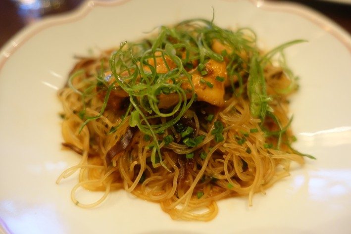 vermicelli with girolles