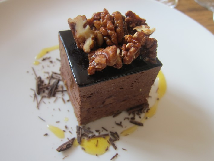 chocolate and walnuts