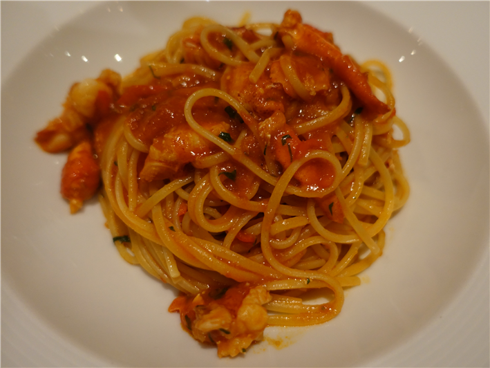 linguine with lobster and chilli